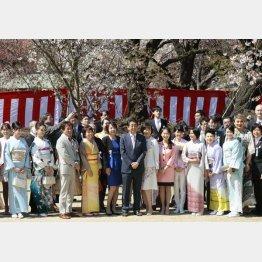 安倍首相主催の「桜を見る会」(C)日刊ゲンダイ