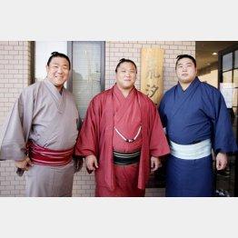 (左から)若隆元、若隆景、若元春(C)共同通信社