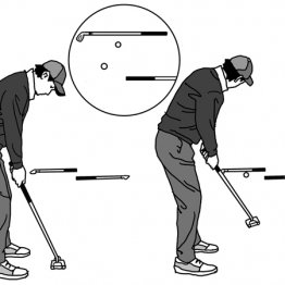 1mゾーンにボール止める練習がロングパットの距離感を養う