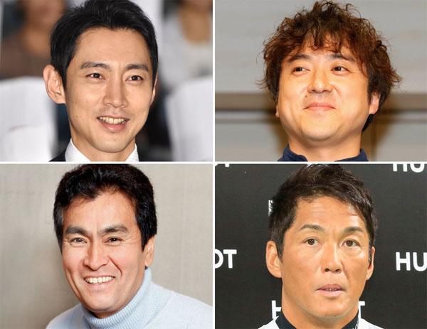 (左上から時計回りに)小泉孝太郎、ムロツヨシ、長嶋一茂、石原良純(C)日刊ゲンダイ