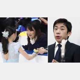 会見での織田信成(右)と紀平をトップに育て上げた濱田コーチ(C)共同通信社