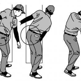 """おしりの位置を確認 前傾角度キープのコツは""""へっぴり腰"""""""