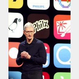 米アップルは巨額な自社株買いを実施した(クックCEO)/(C)共同通信社