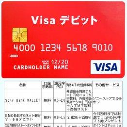 デビットカード厳選5枚 ソニー銀の充実サービスは海外で