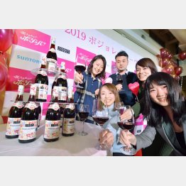 仏産ワインの新酒「ボージョレ・ヌーボー」が解禁(C)共同通信社