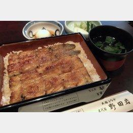 「鰻重 萩」(4000円)/(C)日刊ゲンダイ