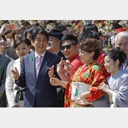 2015年に行われた桜を見る会(C)日刊ゲンダイ