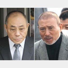 井上邦雄神戸山口組組長(左)と司忍6代目山口組組長(C)日刊ゲンダイ