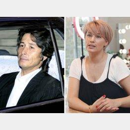 羽賀研二(左)と梅宮アンナ(C)日刊ゲンダイ