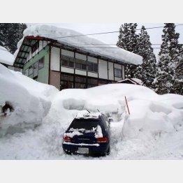 2時間かけてようやく雪から掘り出した筆者の愛車(提供写真)