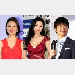 左から橋本マナミ、壇蜜、若林正恭(C)日刊ゲンダイ