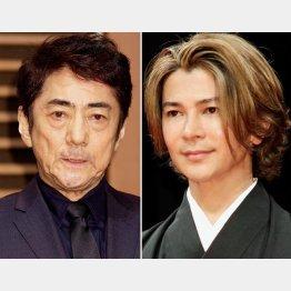 市村正親(左)と武田真治(C)日刊ゲンダイ