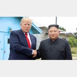 年明けに決裂?(トランプ米大統領と金正恩朝鮮労働党委員長)/(聯合=共同)