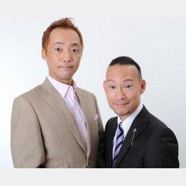 漫才師「シンデレラエキスプレス」の松井成行さん(左)と渡辺裕薫さん(C)松竹芸能