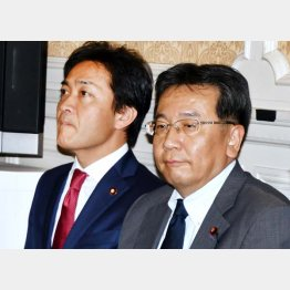 立憲民主の枝野代表(右)と国民民主の玉木代表(C)日刊ゲンダイ