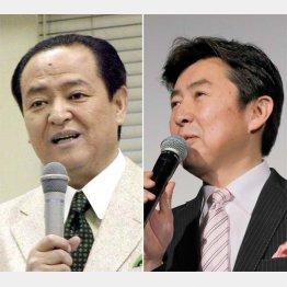 大塚範一アナ(左)と笠井信輔アナ(C)日刊ゲンダイ