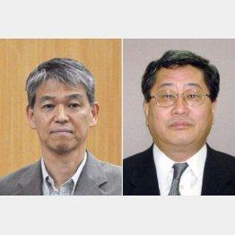 更迭された総務省の鈴木茂樹事務次官(左)と日本郵政の鈴木康雄上級副社長(C)共同通信社