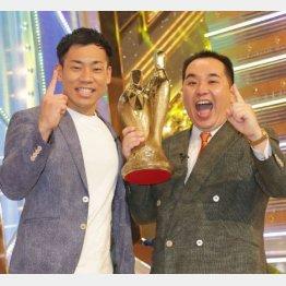 ミルクボーイの駒場孝(左)と内海祟(C)日刊ゲンダイ