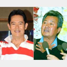 山下真司さん(左)と梅宮辰夫さん(C)日刊ゲンダイ