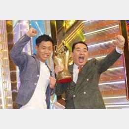 M-1で優勝したミルクボーイ(C)日刊ゲンダイ