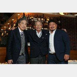 (左から)二宮清純、権藤博、長谷川慎の3氏(C)日刊ゲンダイ