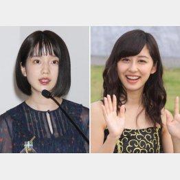 テレビ朝日の弘中綾香(左)と斎藤ちはる(C)日刊ゲンダイ