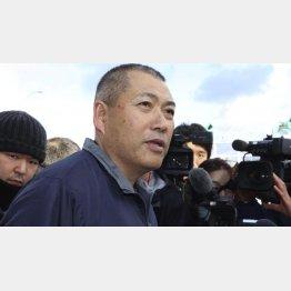 史上2番目、1億9320万円のクロマグロを釣り上げた漁師の山本昌彦さん(C)共同通信社