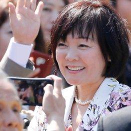 「桜を見る会」で出席者と歓談する昭恵夫人
