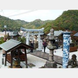 珍しい陶器の鳥居(C)日刊ゲンダイ