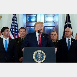8日の会見では、対イラン戦争回避の姿勢を示したトランプ米大統領だが(C)ロイター