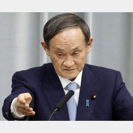 菅官房長官は「桜」対応はお忘れか?(C)共同通信社