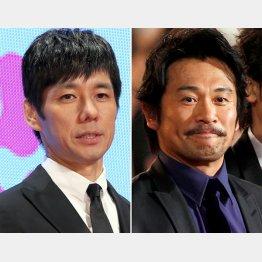 西島秀俊(左)と内野聖陽(C)日刊ゲンダイ