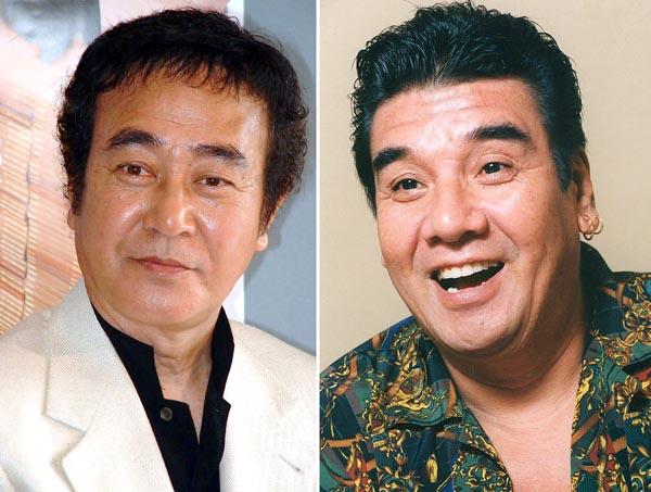 渡瀬恒彦(左)と安岡力也(C)日刊ゲンダイ