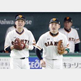 坂本(左)、丸のMVPコンビも…(C)日刊ゲンダイ