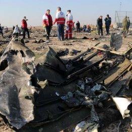 ウクライナ国際航空機の墜落現場