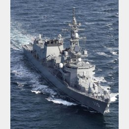 護衛艦「たかなみ」は調査研究に向かったが…(C)共同通信社