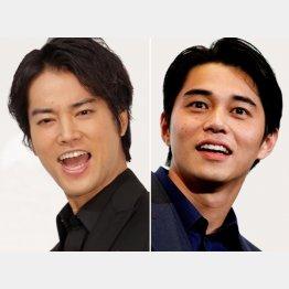 桐谷健太(左)と東出昌大(C)日刊ゲンダイ