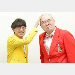 芸人「新宿カウボーイ」の石沢勤さん(左)と、かねきよ勝則さん(C)日刊ゲンダイ