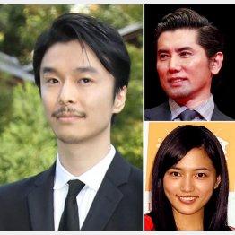 左から時計回りで、主演の長谷川博己、本木雅弘、川口春奈(C)日刊ゲンダイ