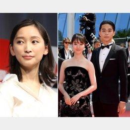 杏(左)と映画「寝ても覚めても」の共演で急接近した東出と唐田(C)ゲッティ/共同イメージズ