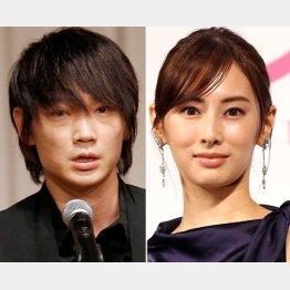 綾野剛(左)と北川景子(C)日刊ゲンダイ