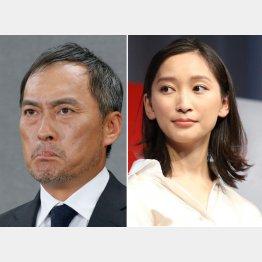 渡辺謙(左)と杏(C)日刊ゲンダイ