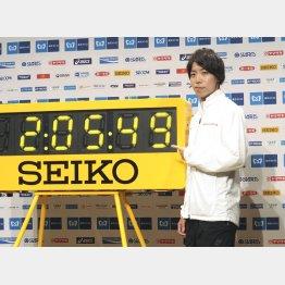 東京マラソンで日本記録更新を目指す設楽(C)共同通信社