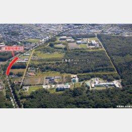 日本ハムのボールパーク建設予定地(北広島市提供)