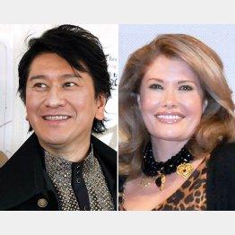 川崎麻世(左)とカイヤ(C)日刊ゲンダイ