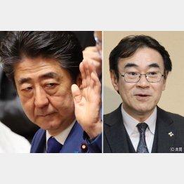 安倍首相と黒川弘務東京高検検事長(C)日刊ゲンダイ