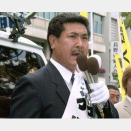 2002年には長野県知事選に立候補した羽柴秀吉さん(C)共同通信社