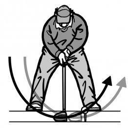 ティーアップはヘッド上昇中に芯でボールをとらえる高さに