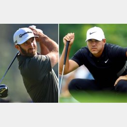 五輪のゴルフに関心が薄いD・ジョンソン(左)、B・ケプカ(C)ロイター/USA TODAY Sports