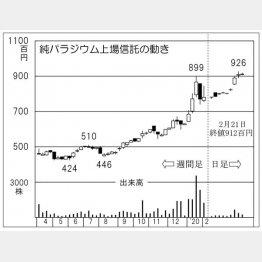 純パラジウム上場信託(C)日刊ゲンダイ